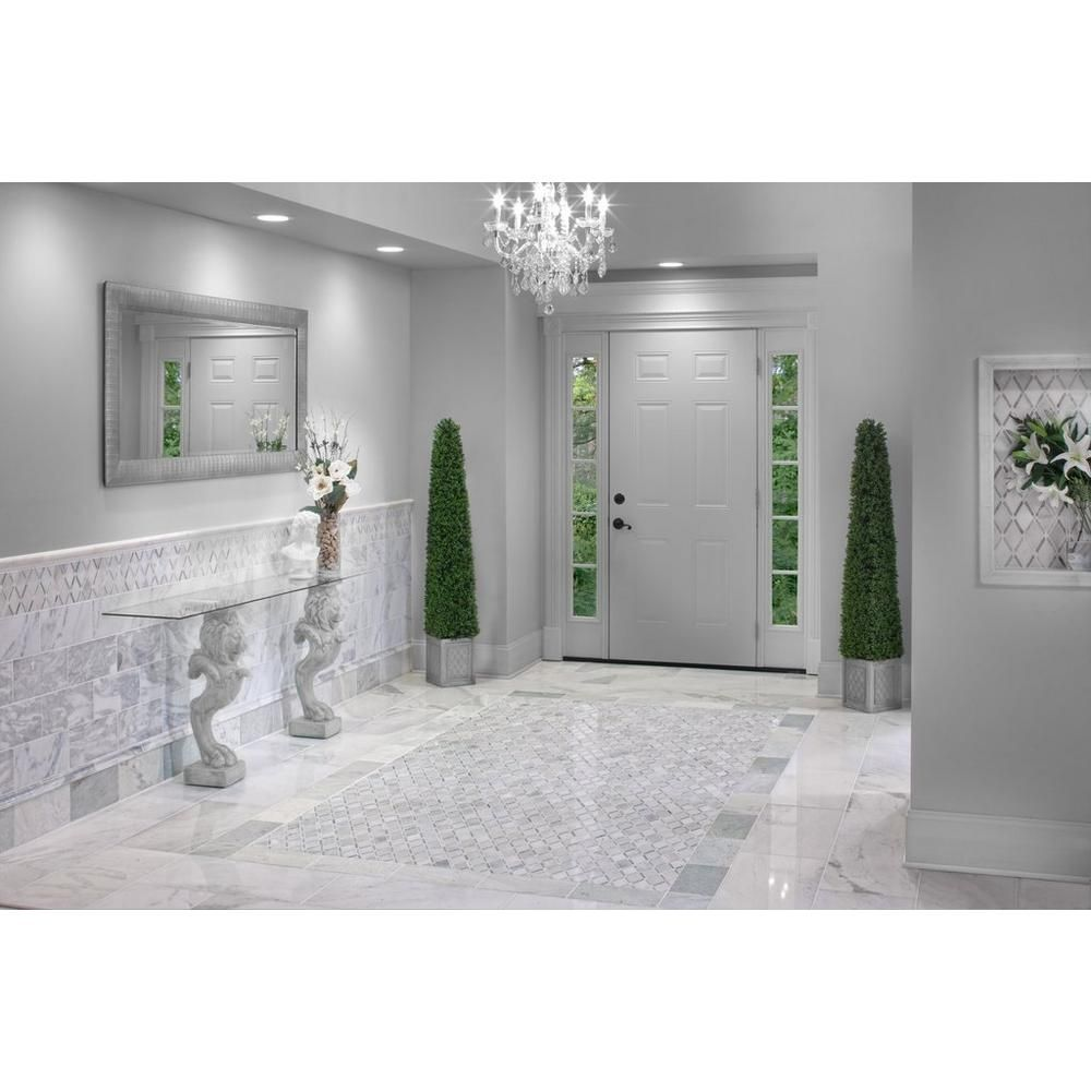 Sahara Carrara Marble Tile 12 X 24 921100673 Floor And Decor Stone Floor Bathroom Marble Tile Floor Green Marble