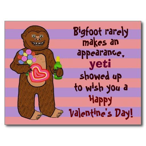 Funny Bigfoot Valentine S Day Pun Valentines Day Funny Valentines Day Funny Meme Valentines Puns