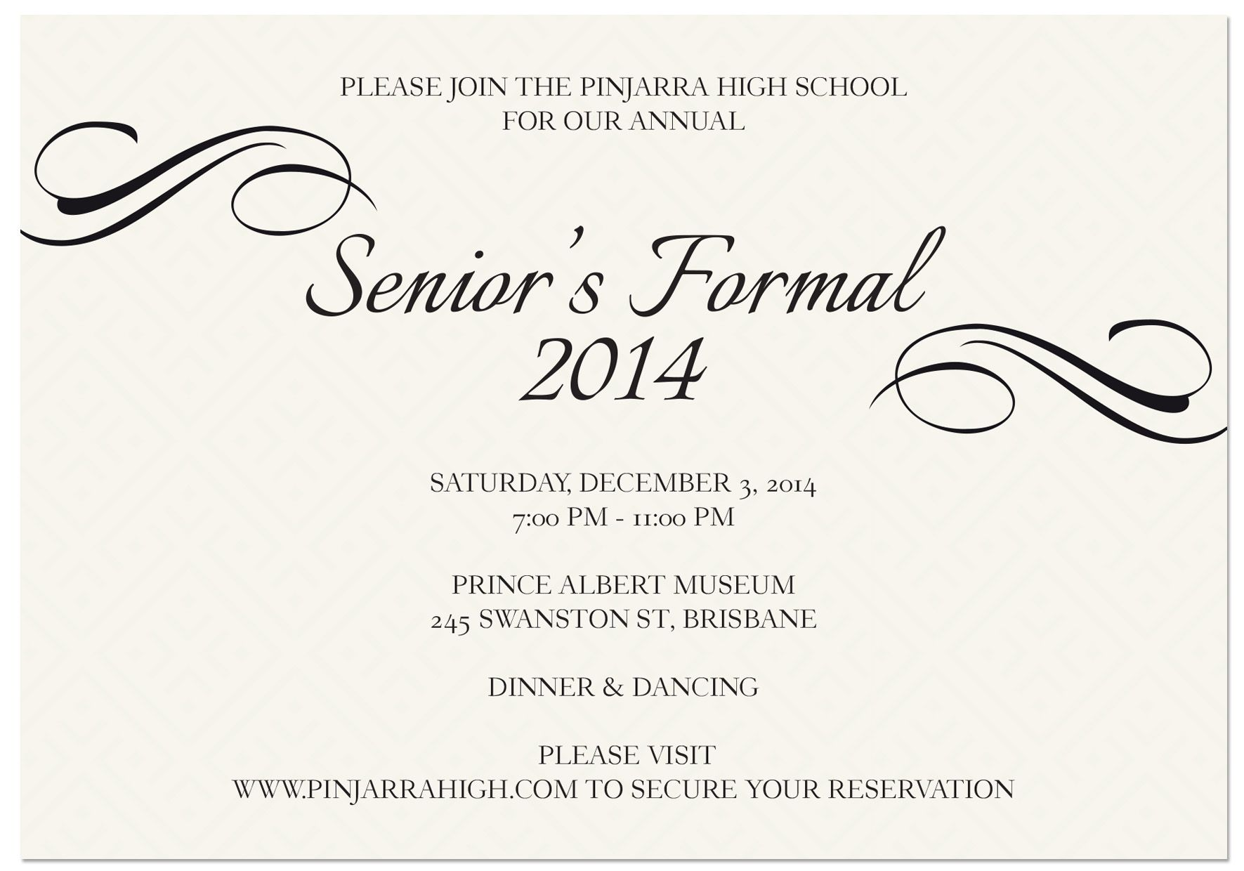 School Formal invitations from Paper Divas From only 100 each