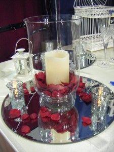 Hurricane Vase Centerpieces These Hurricane Petal Candle