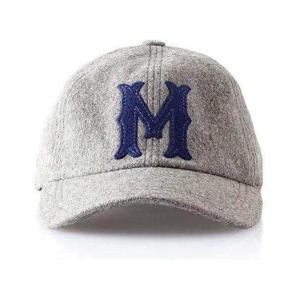 40839dffbfd Mark   Graham Wool Initial Baseball Ball Cap