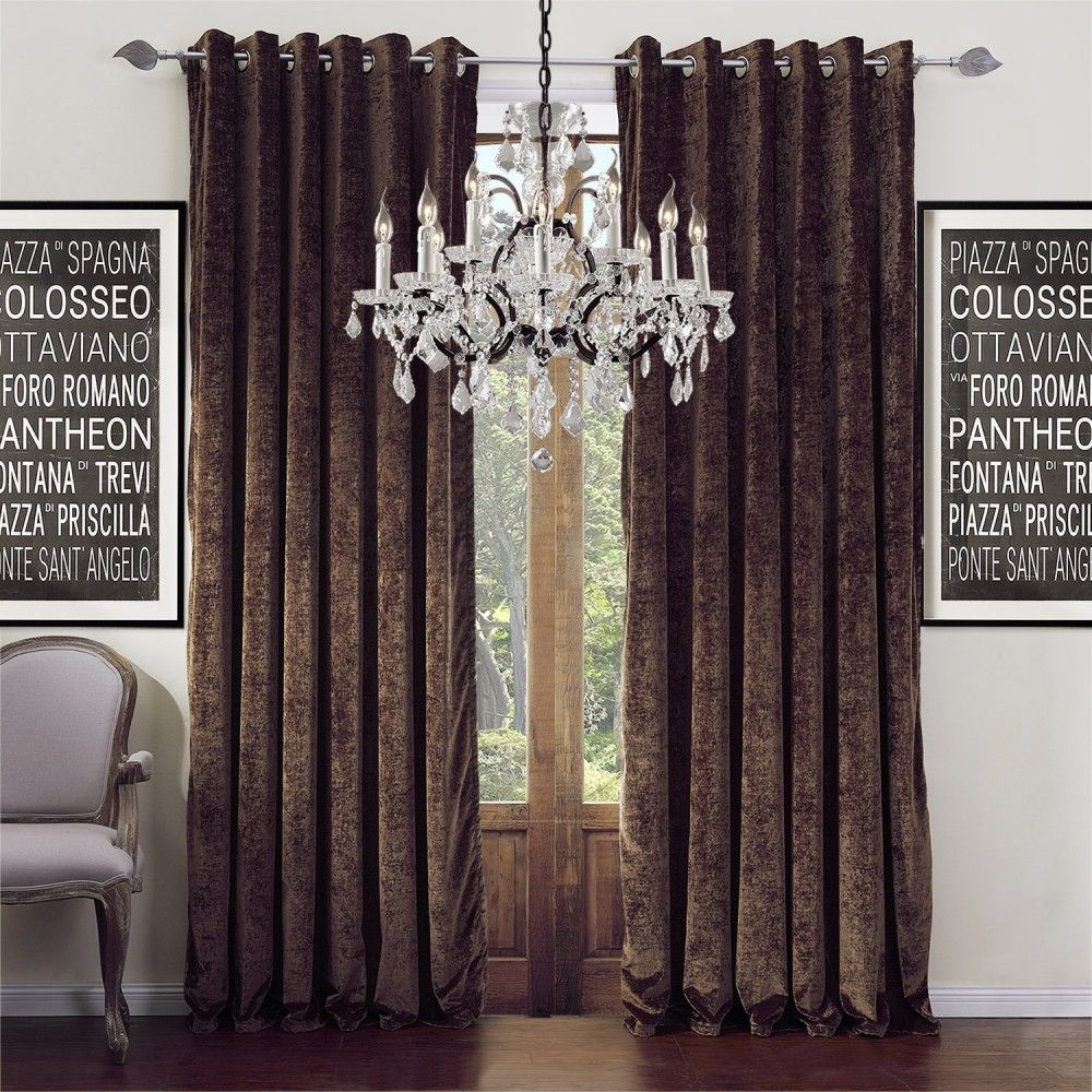 Modern Solid Dark Brown Chocolate Curtain Curtains Homedecor