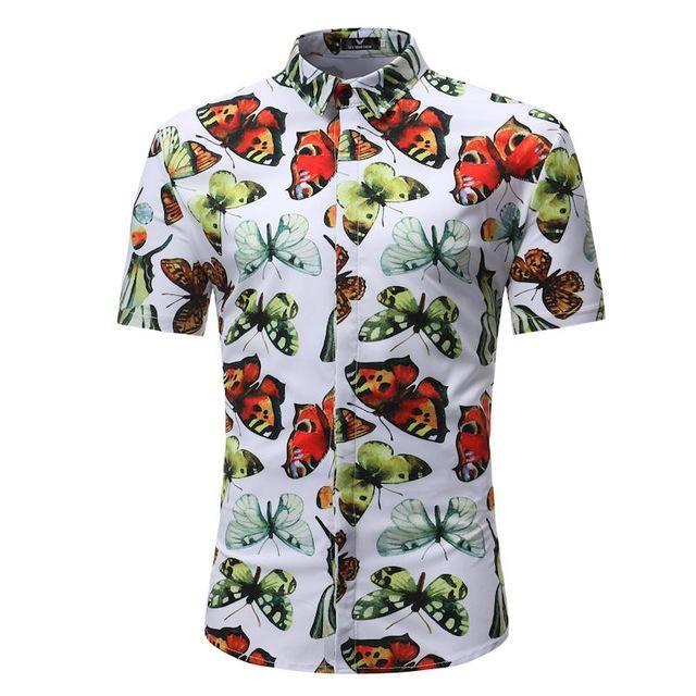 56d742c8 Men Shirt Summer Style Palm Tree Print. Men Shirt Summer Style Palm Tree Print  Hawaiian Men, Mens Hawaiian Shirts, Casual Shirts