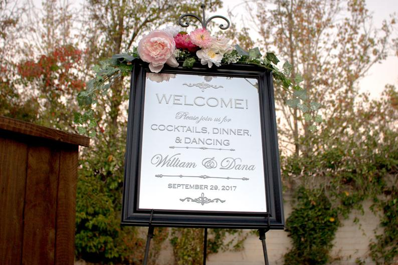 Reception Welcome Sign - Wedding Reception Mirror - Wedding Reception Sign - Wedding Welcome Sign - Mirror for Wedding - Mirror Welcome Sign #weddingwelcomesign