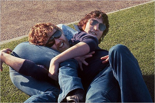 John Lennon and Harry Nilsson taken by May Pang.