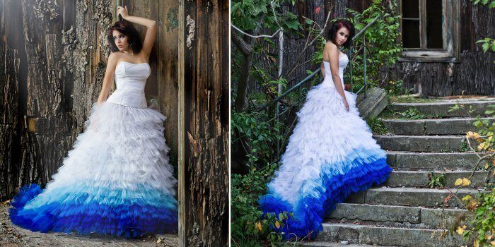 Dip-Dye Brautkleid / wedding dress ombre blue | Ombre | Pinterest ...