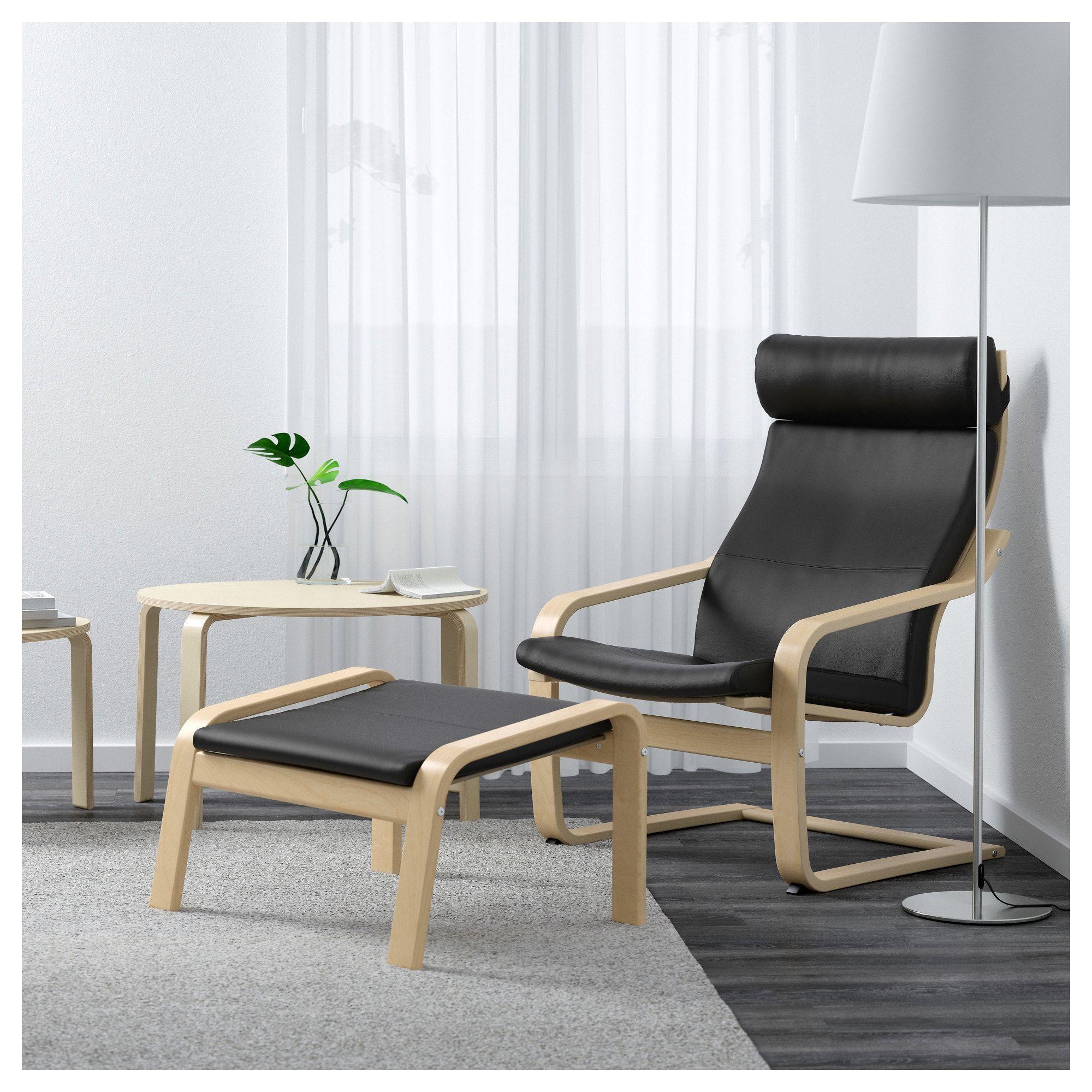 Poäng Hocker Birkenfurnier Smidig Schwarz In 2019 Products
