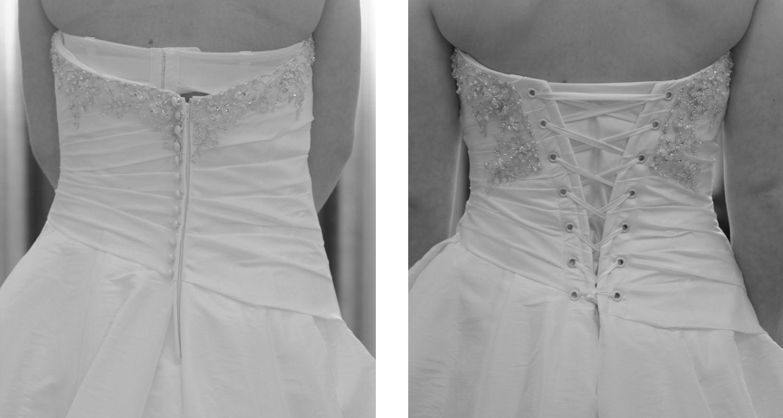 Corset Backs The Gilded Thimble Corset Back Wedding Dress Dress Alterations Corset Back Dress