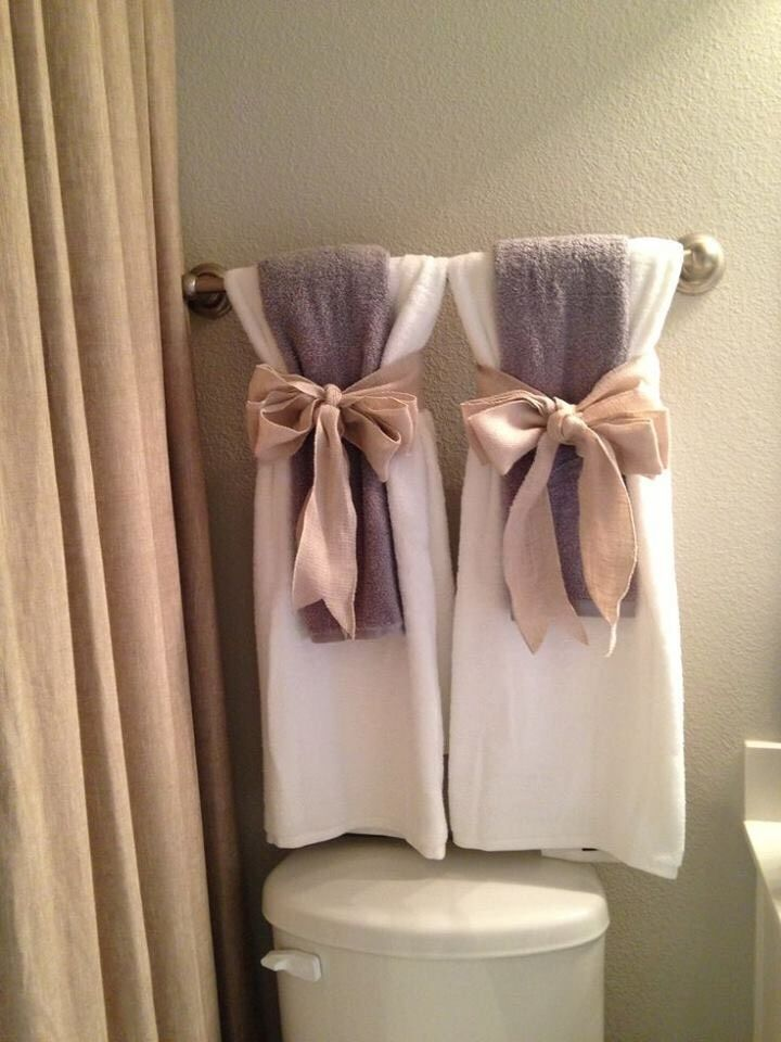 Guest Bathroom Makeover Part 2 A Cup Full Of Sass Bathroom Towel Decor Towel Decor Restroom Decor
