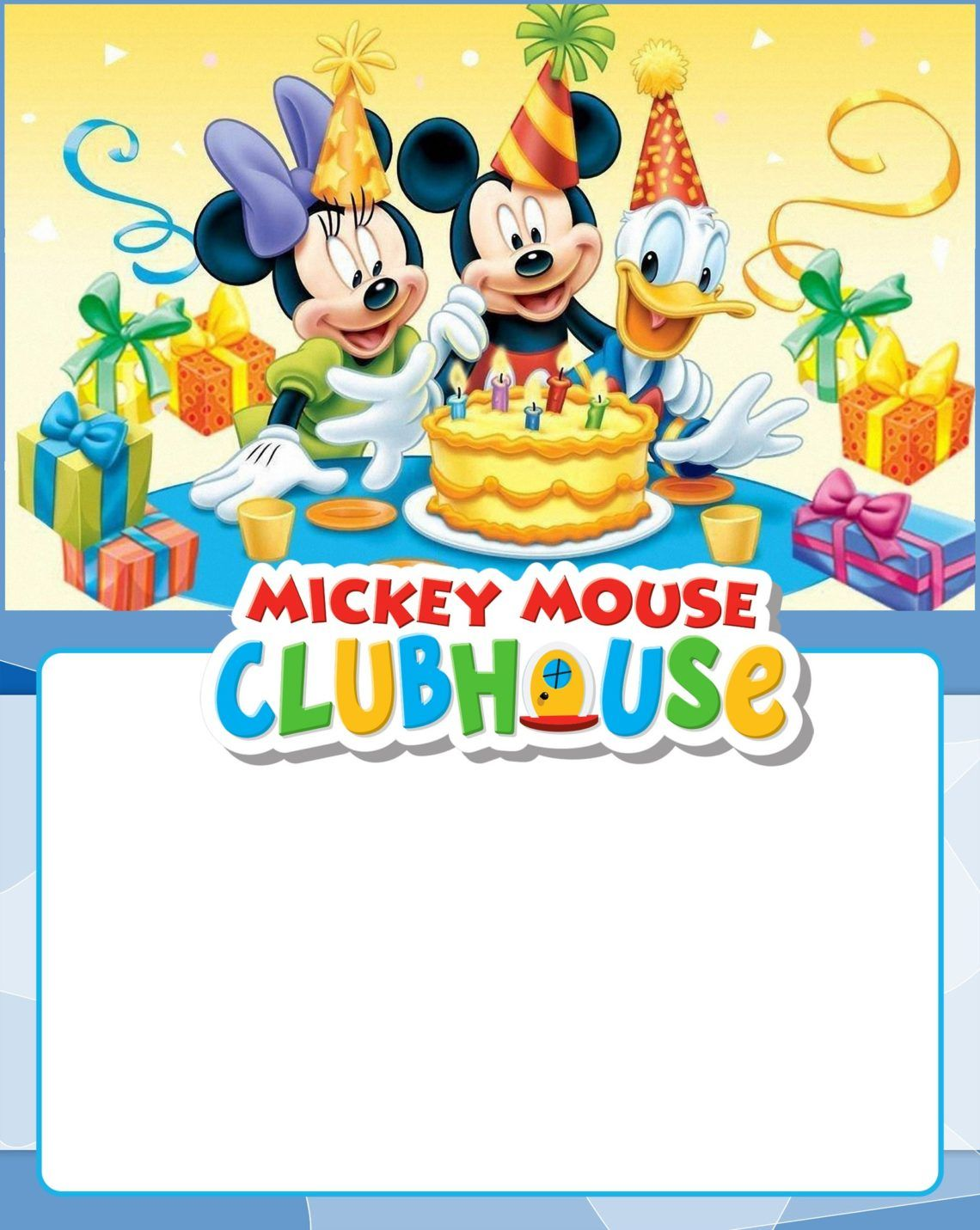 Mickey Mouse Clubhouse Invitation Template from i.pinimg.com