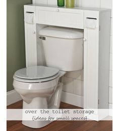 Over the Toilet Storage - DIY Ideas for Small Bathroom - Click for 18 Small Space Tips