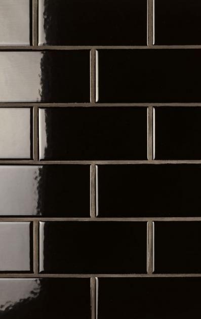 Schwarz-Weiß fürs Bad New York Style Fliesen  - schwarz wei fliesen bad