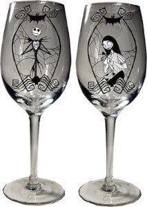 Jack & Sally wine glasses | Abode-Funky domestication | Pinterest ...