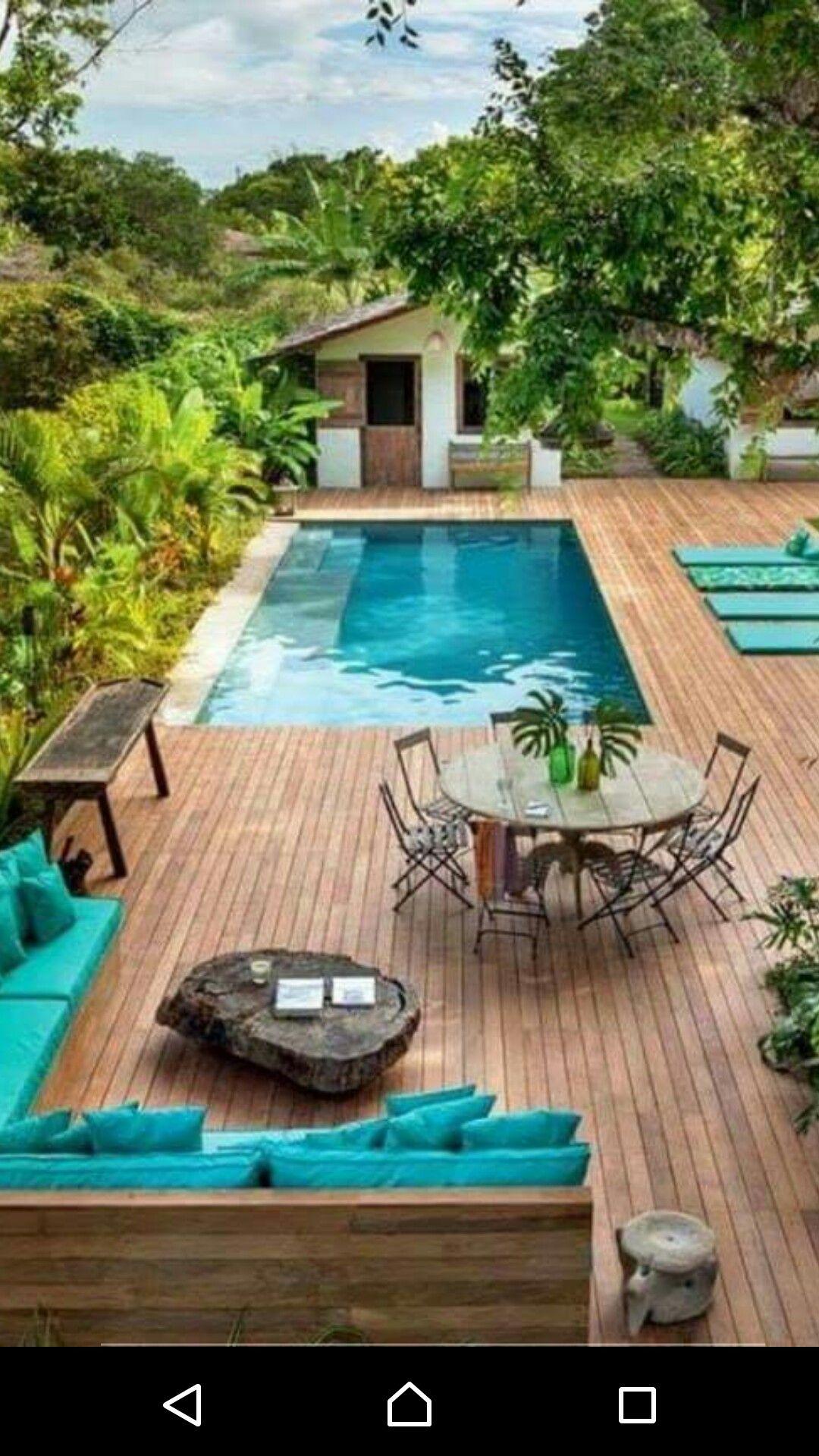 Pin By Carlos Oswaldo On Huerto Jardín Porches Terrazas Balcones Backyard Backyard Pool Outdoor Living