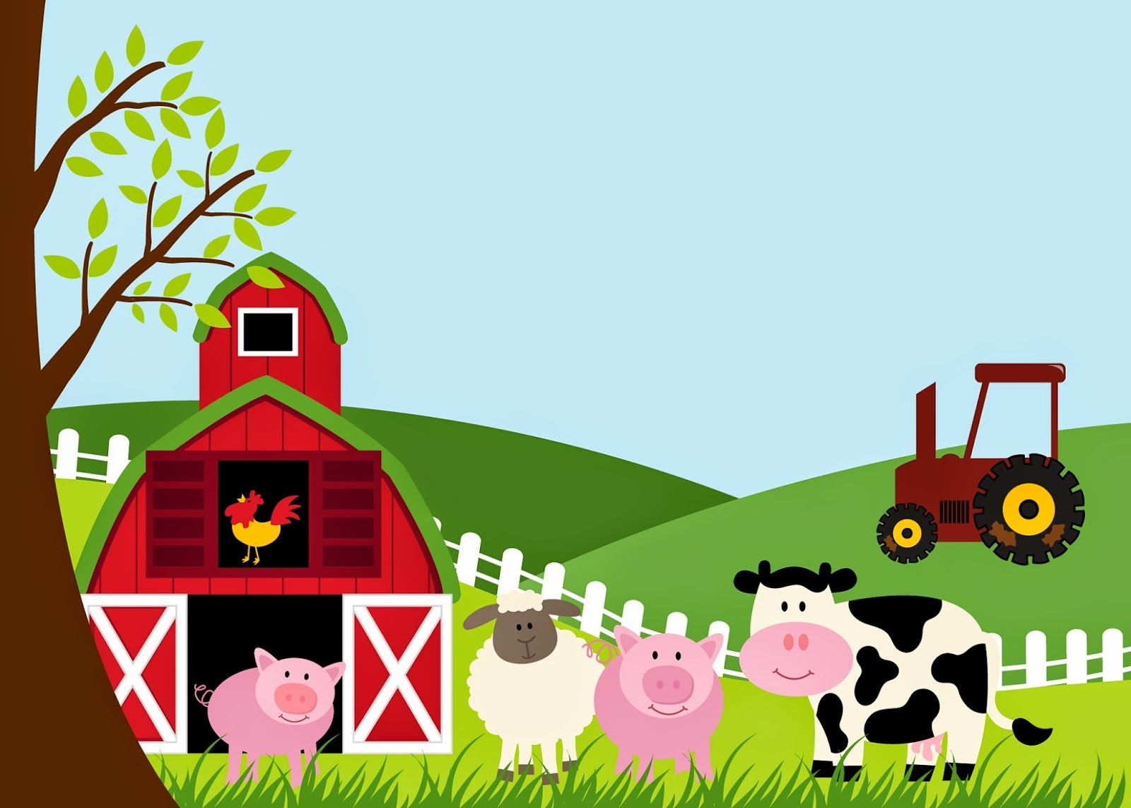 Free Printable Farm Party Invitations Labels Or Cards
