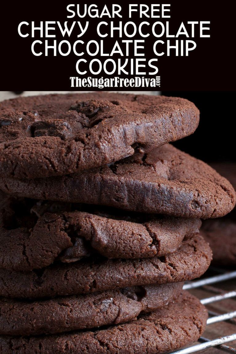 Sugar Free Chocolate Chocolate Chip Cookies - THE SUGAR FREE DIVA
