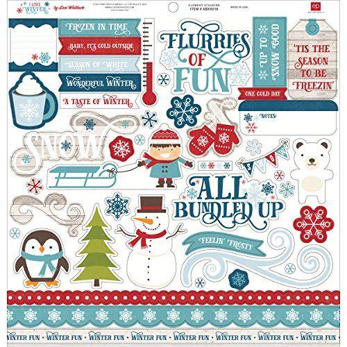 EK SUCCESS STICKO MERRY CHRISTMAS PHRASES HOLIDAYS WINTER SCRAPBOOK STICKERS