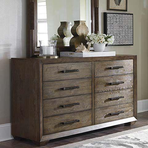 Compass Dresser By Bassett Furniture Pairs Knotty Oak Texture With