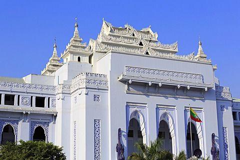 Yangon City Hall Yangon Rangoon Myanmar Burma Asia Yangon City Hall High Quality Stock Photos
