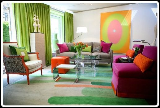 Color Psychology Decorating With Green Colorful Living Room Design Colourful Living Room Room Colors