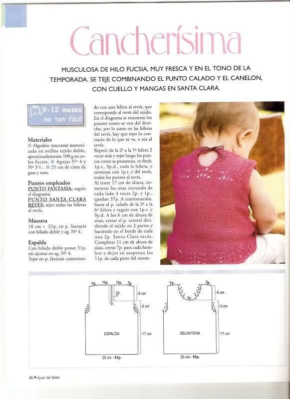 Patrones de Jerseys para bebés (6 meses) solicitado por Matilde ...