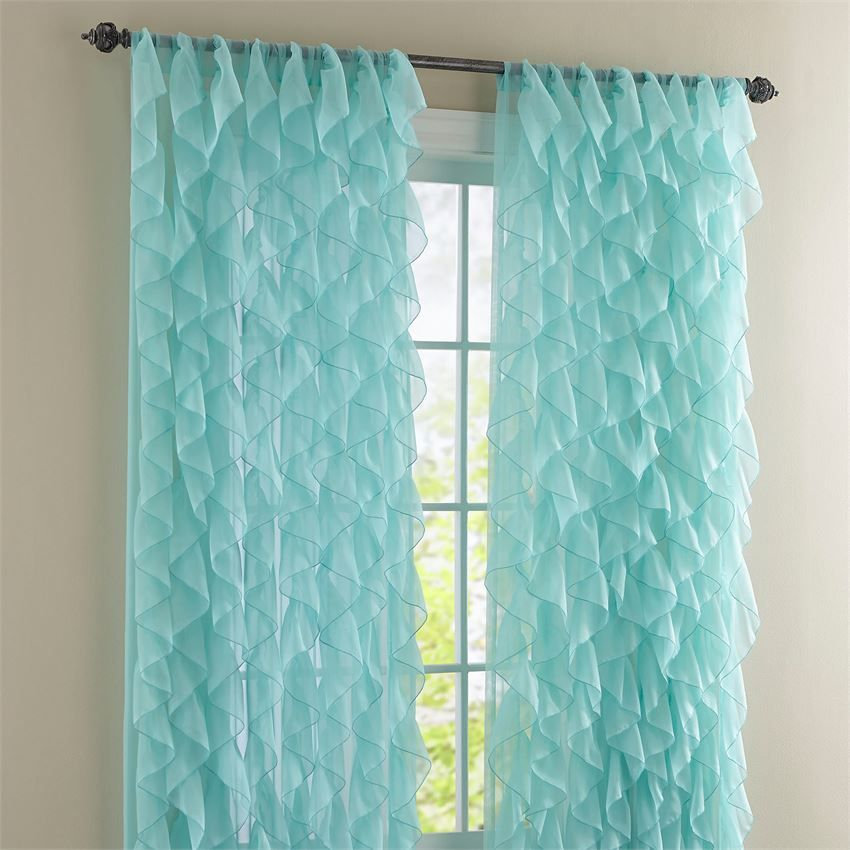 Cascade Rod Pocket Curtain Sheer Curtains Brylanehome