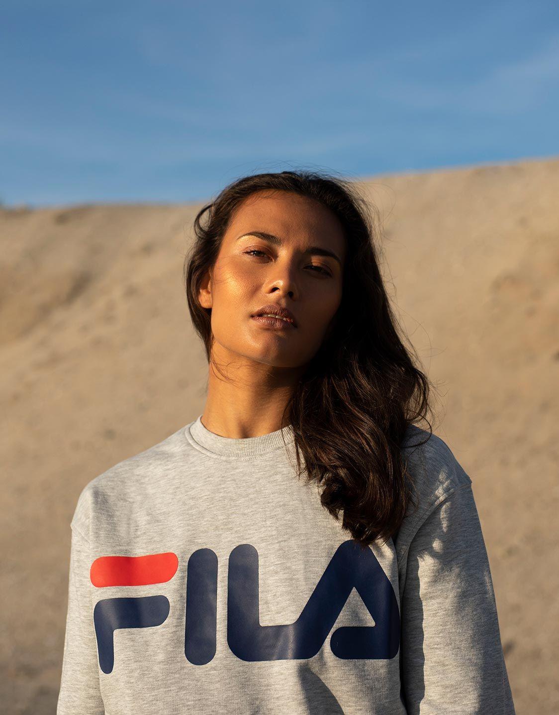 d66737ae4a83 FILA Classic logo sweater light grey   Fila   Fashion, Womens ...