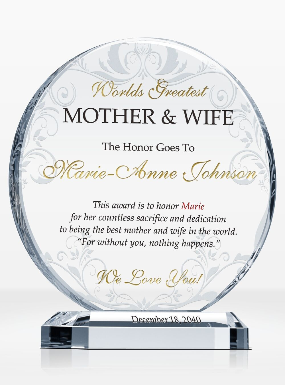 Best Wife Award Certificate Elegant Personalized Certificate For Worlds Best Wife With Frame Good Wife Best Boyfriend Funny Awards Certificates