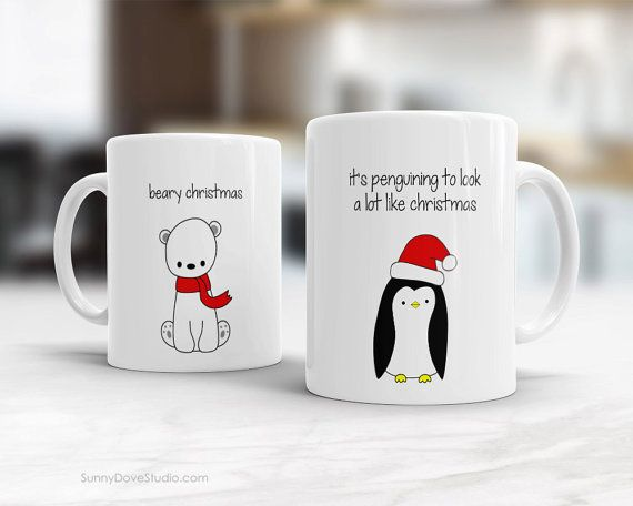 Pun Mugs Funny Holiday Christmas Coffee Penguin For Mug Friend Gift 0wP8nOk