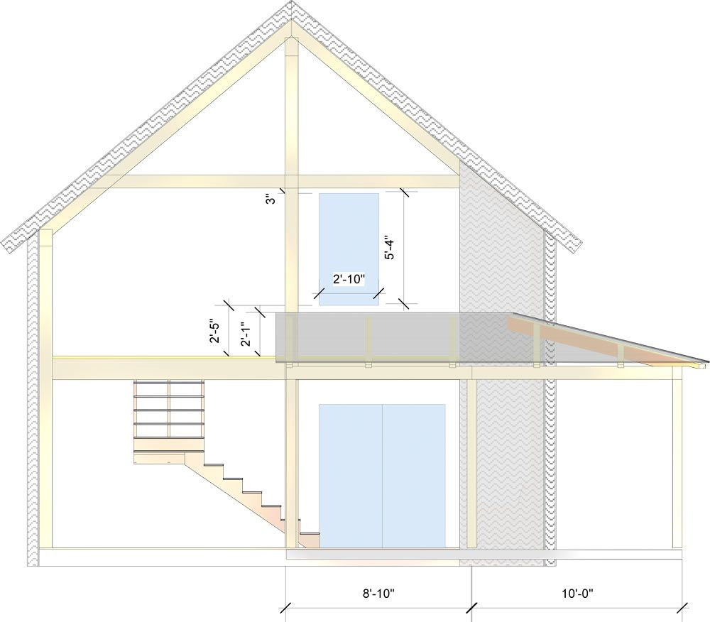 West elevation of the 24 x 40 timber frame Casco Bay Barn House ...