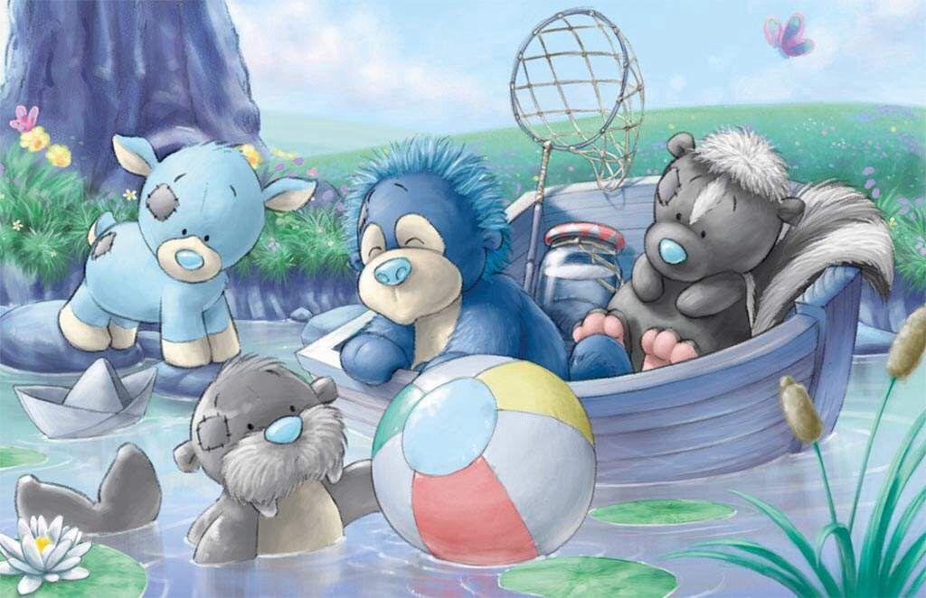 мишка тедди и его друзья картинки и их имена