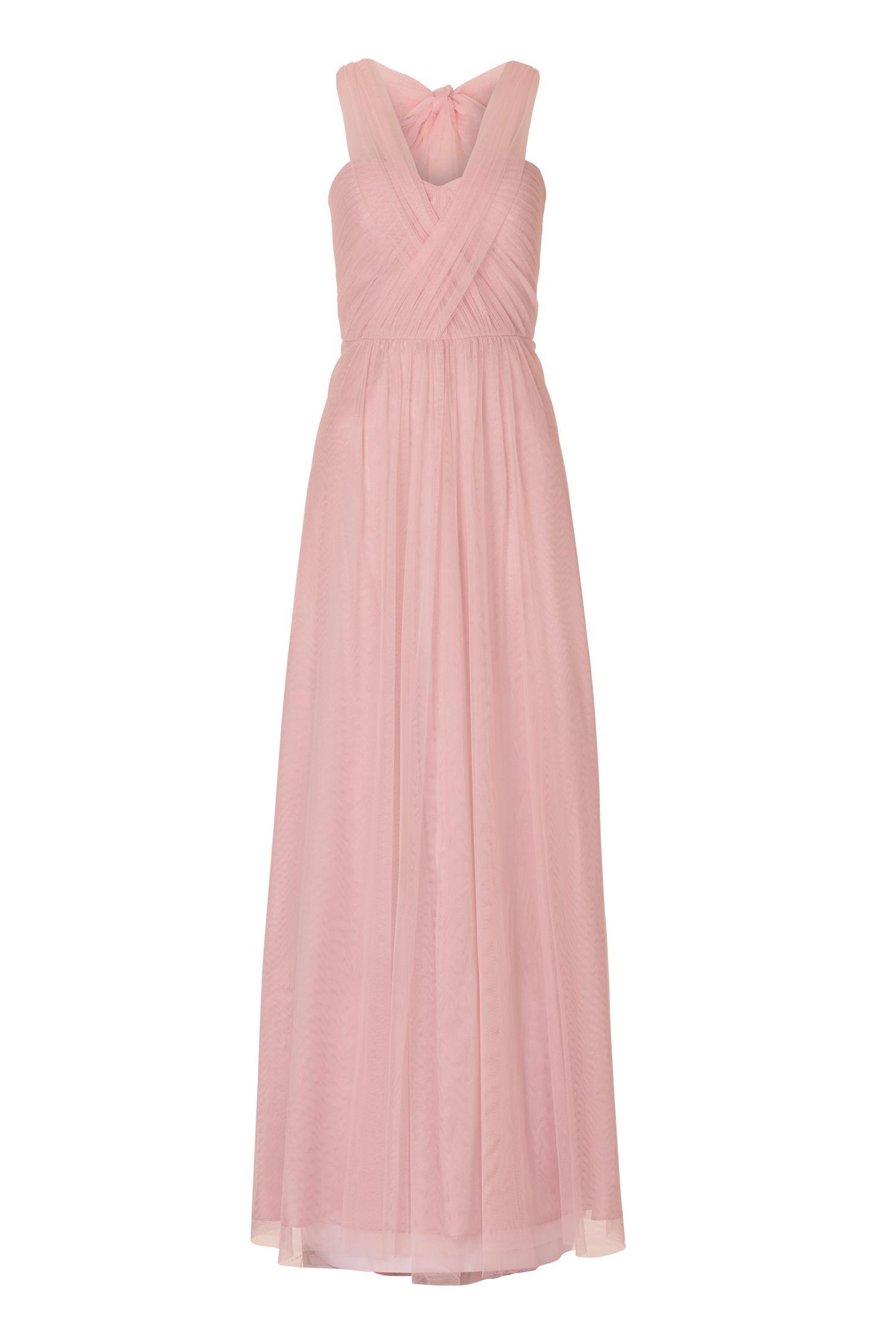 Wunderschones Tullkleid In Altrosa Von Vera Mont Mode Bosckens Abendkleid Langes Abendkleid Brautjungfern Kleider