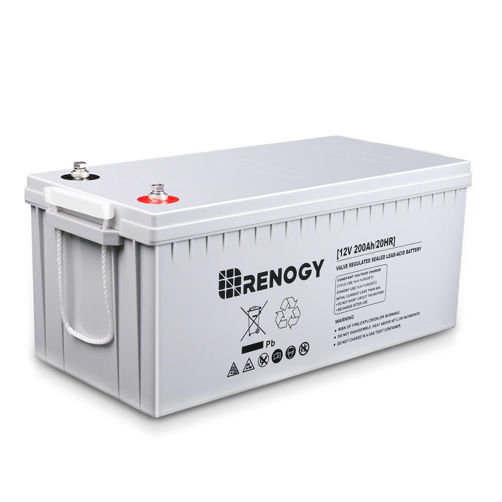 Renogy Deep Cycle Agm Battery 12 Volt 200ah For Solar Sanels Solar System In 2020 Solar System Energy Storage Solar