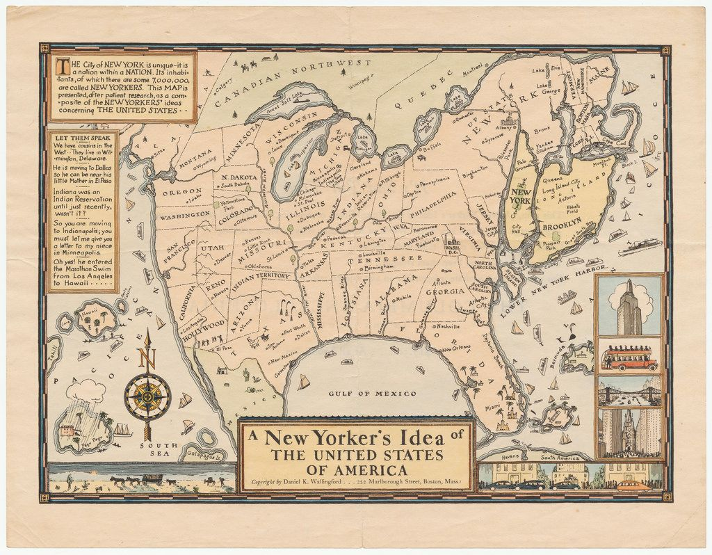 A New Yorker S Idea Of The United States Of America