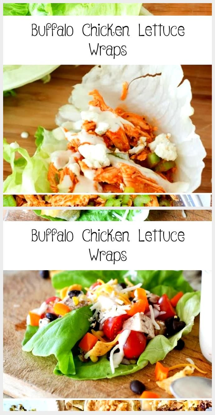 Buffalo chicken lettuce wraps- a healthy and delicious meal or low carb party ap...,  #Buffalo #Carb #Chicken #delicious #Healthy #Lettuce #Meal #Party #Wraps