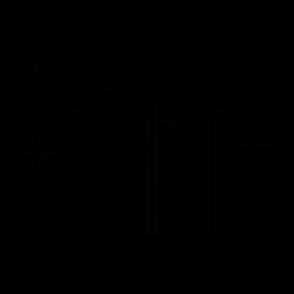 silhouette huisjes sjablonen lantaarn knutselen huisjes