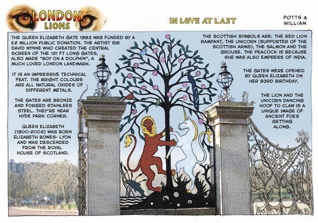 The Symbolism Of Londons Queen Elizabeth Gate 1993 By Sir David