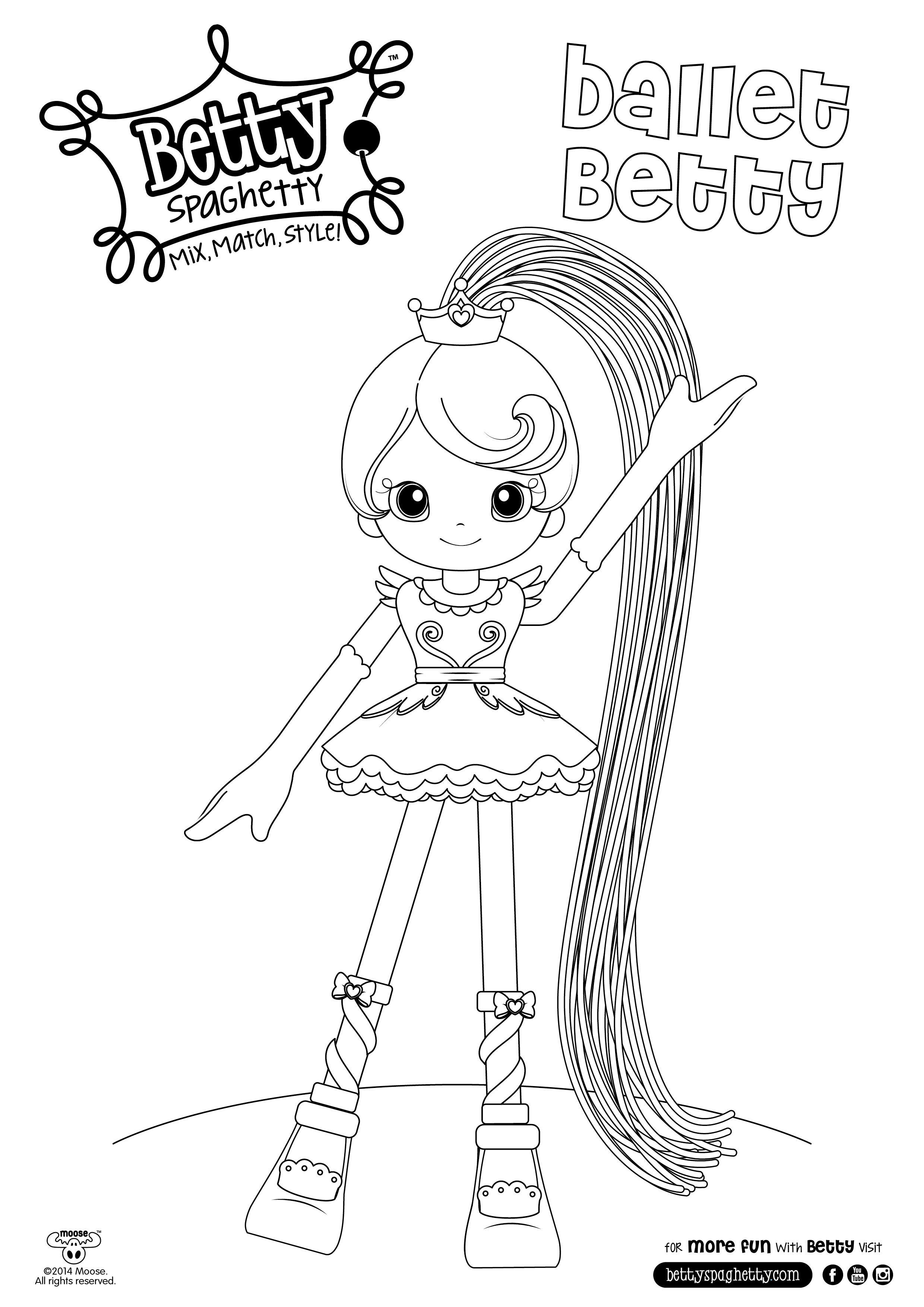 Betty Spaghetti cute coloring book Pinterest Coloring books