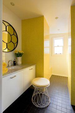 Yellow Tile Design Ideas Yellow Bathroom Decor Yellow Bathrooms Grey Flooring