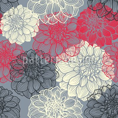 Bohemia Dahlia, Design Pattern by Svitlana Chestnykh at patterndesigns.com