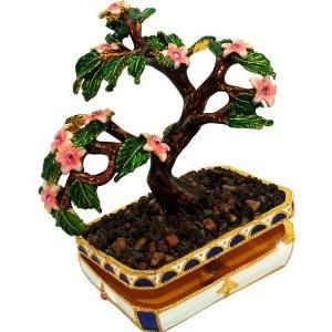 "I found 'Objet D'Art Release #361 ""Sakura"" Japanese Bonsai Cherry Blossom Tree Handmade Jeweled Enameled Metal Trinket Box' on Wish, check it out!"