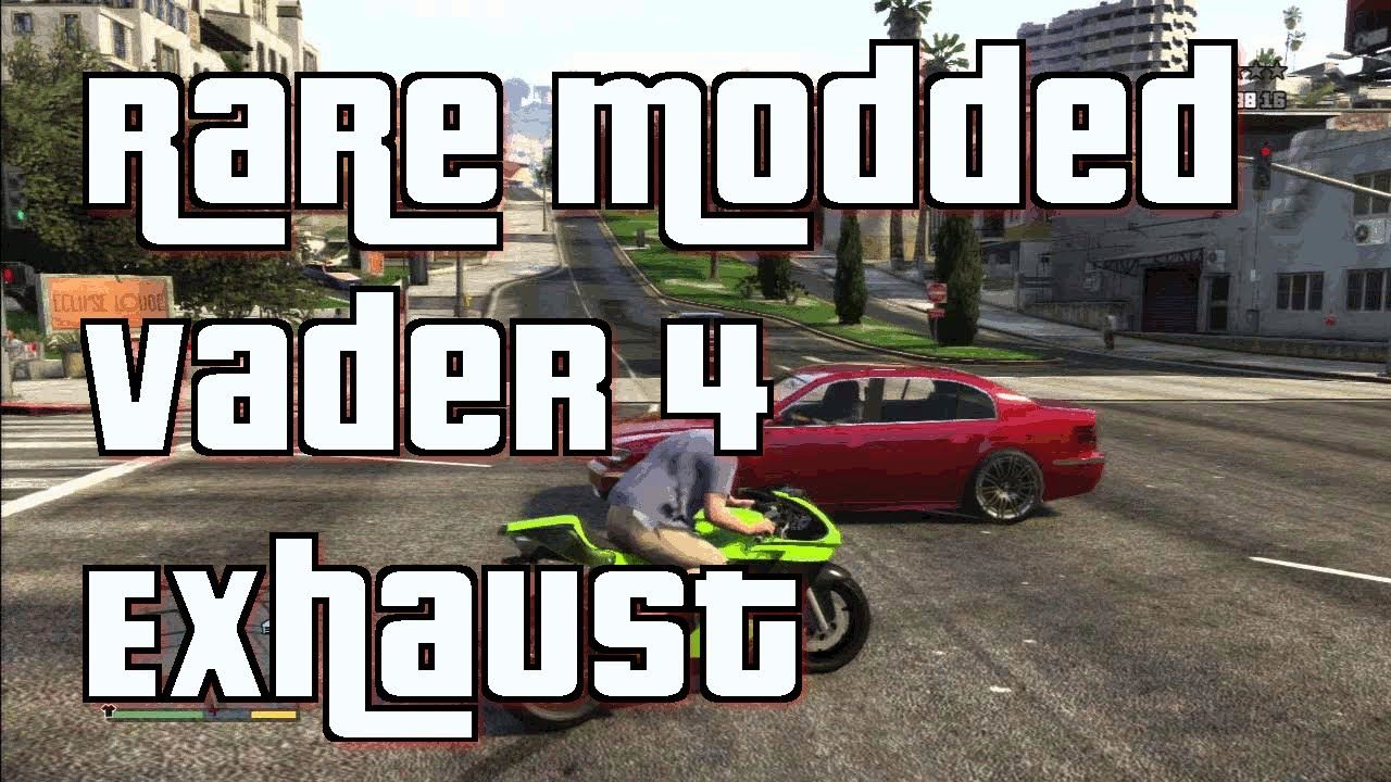 Gta 5 Online Shitzu Vader Motorcycle With 4 Exhausts Rare Secret Modded Gta 5 Gta Exhausted
