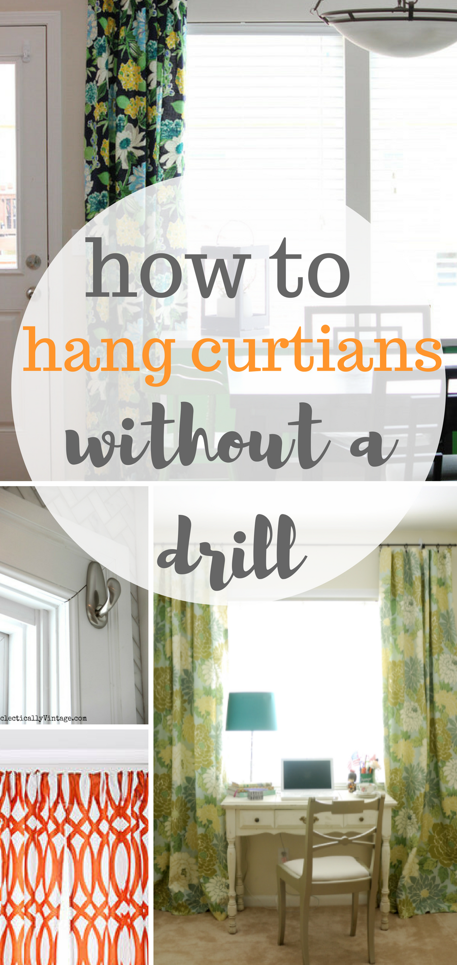 How to hang your curtains without a drill interior design