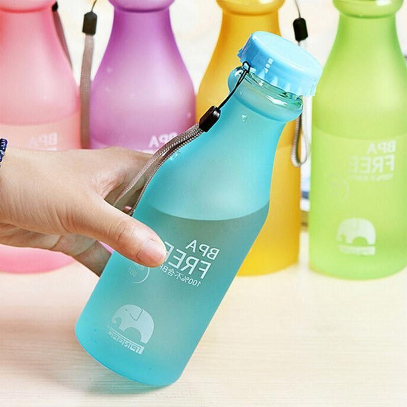 Bpa Free Water Bottles Plastic Frosted Leak Proof Cup Portable Unbreakable Water Bottle 550ml High Yoga Water Bottle Travel Water Bottle Portable Water Bottle