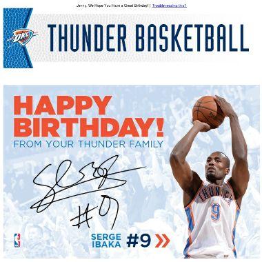 My Birthday Card From Serge Jealous Thunder Basketball Oklahoma City Thunder Its My Birthday