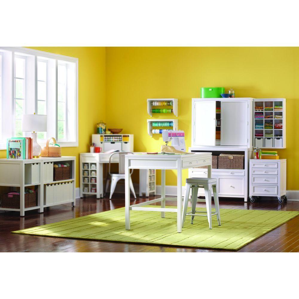 Martha Stewart Living Craft Space 36 In H 2 Drawer Wood Craft