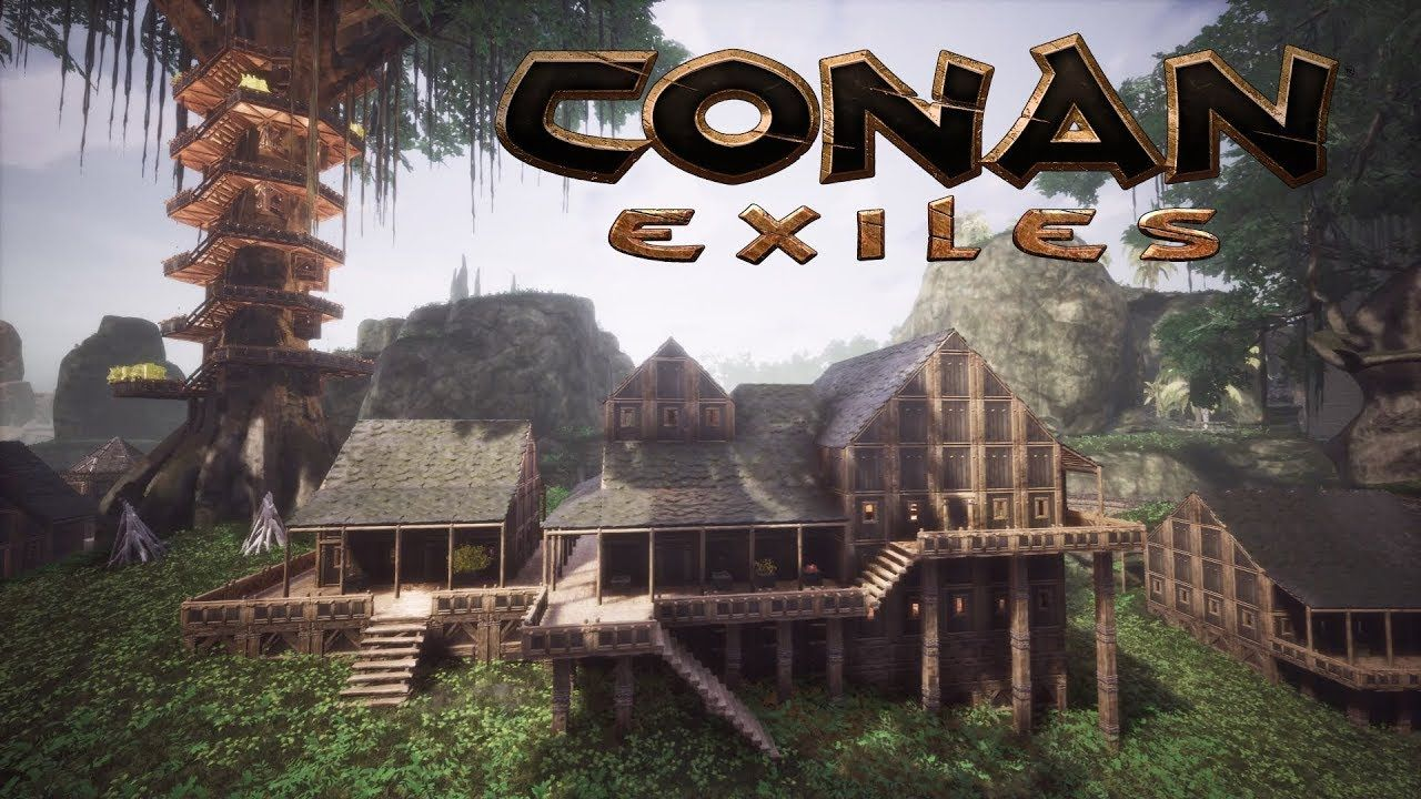Conan Exiles House Designs In The Jungle Treehouse City Speed