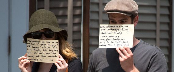 You'll Love Emma Stone And Andrew Garfield's Message To The Paparazzi