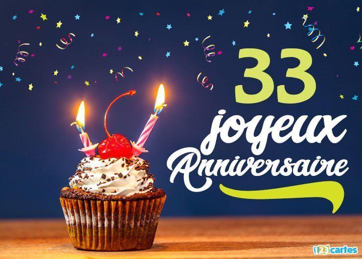 Carte Joyeux Anniversaire 33 Ans Cerise Sur Le Gateau Carte Joyeux Anniversaire Carte Anniversaire Carte Anniversaire Gratuite