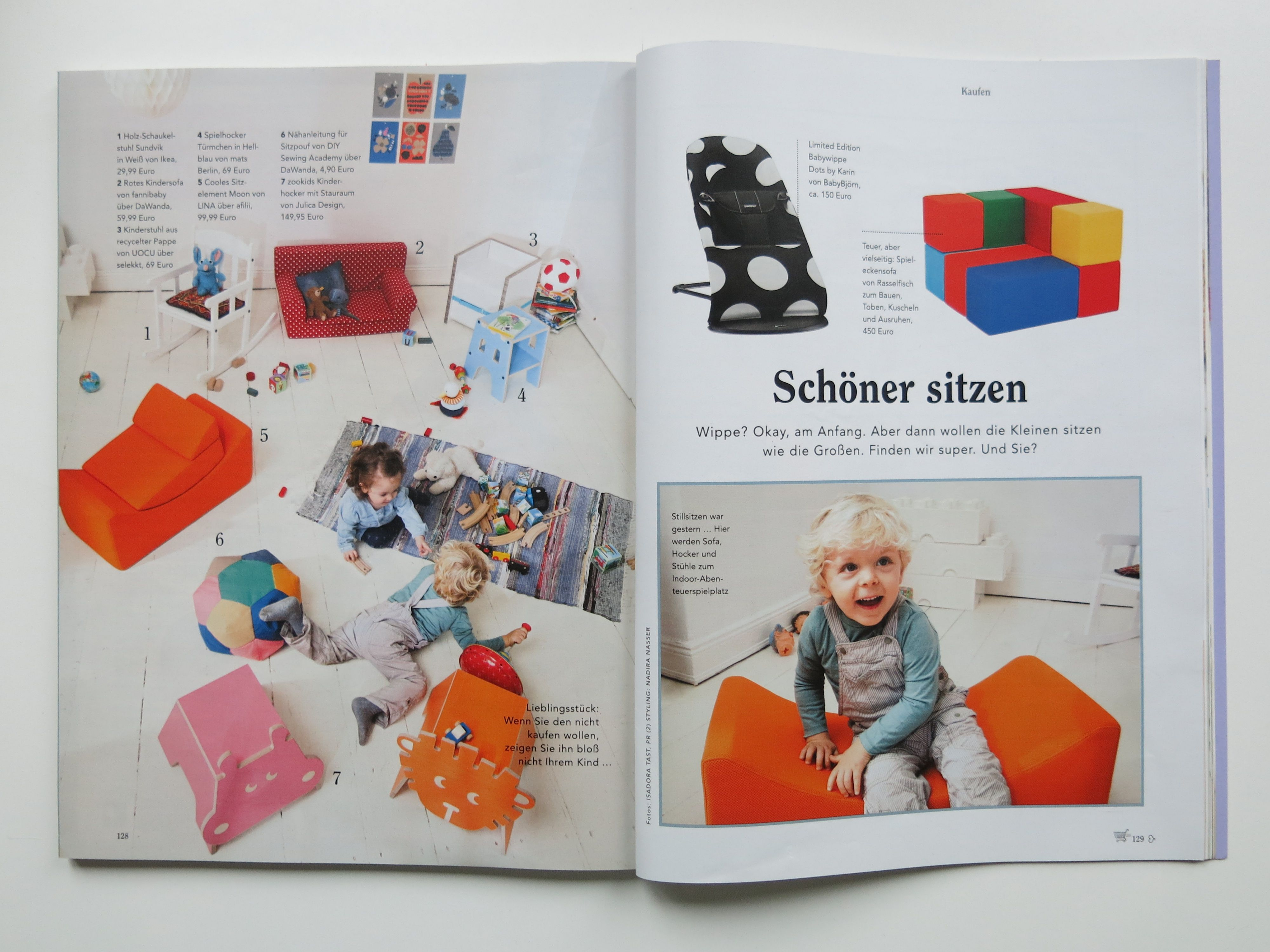 The DIY Sewing Academy in the press: Eltern Nr. 2 2015 Seiten 128-129
